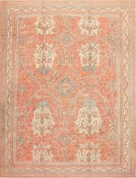large antique turkish oushak rug 47426 detail large view