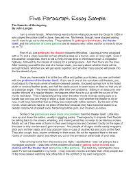 format of a paragraph essay com format of a 5 paragraph essay 10 example