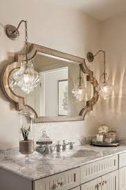pendant lamps and the horizontal mirror