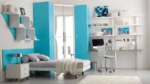 Modern Bedroom Blue Modern Teenager Bedroom In White With Blue Accent Ideamodern