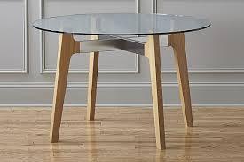 cb2 brace dining table