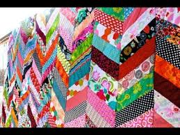 Chevron Quilt Pattern Magnificent Chevron Column Quilt Tutorial YouTube