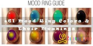61 Mood Ring Colors Their Meanings
