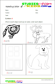 letter d printable reading worksheets for children-worksheet PDF ...