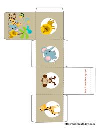 Free Printable Halloween Favor Box Templates Safari Or Jungle Themed