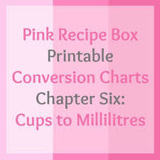 Printable Conversion Chart Cups To Millilitres Printable Chart