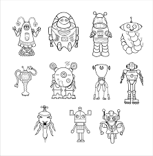 Space Robot Color Pages Yahoo Image