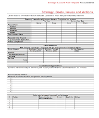 Strategic Plan Template Strategic Account Plan Template Download At Four Quadrant 20