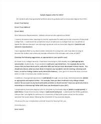 Academic Appeal Letter Classy Appeal Decision Letter Template Formal Appeal Letter Template Of
