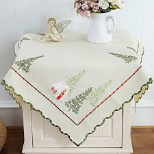 simple cotton and linen tablecloth