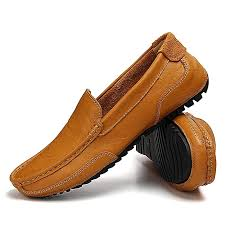 eur 37 46 men loafers genuine leather slip on casual shoes mens moccasins shoes men s