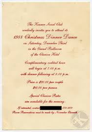 kenner christmas dinner dance invitation and  kenner 1988 dinner dance invitation