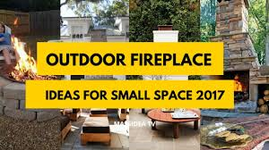 50 awesome outdoor fireplace ideas for small space 2017