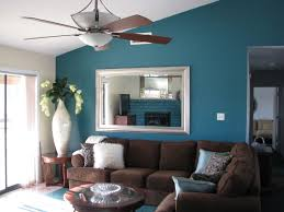 brown and teal living room ideas. Deep Teal Wall Color Modern Living Room Decor Ideas Brown Sofa And T
