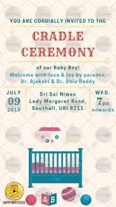 Cc01 Cradle Ceremony Invitation Card Maker