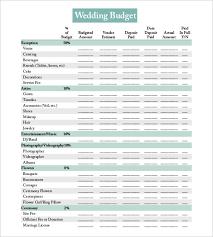 Printable Wedding Budget List Magdalene Project Org