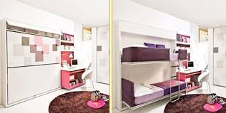Space bedroom furniture Decor Lushome Kids Bedroom Furniture Stylish Space Saving Ideas And Modern Loft Beds