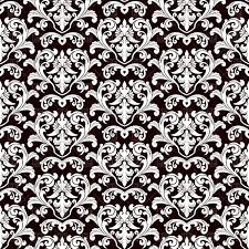 Damask Pattern Free Seamless Black Damask Pattern Vector Illustration Of Backgrounds