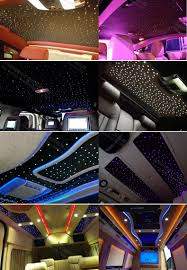 Car Light Decoration Interior Decoration Car Roof Top Optic Fiber Light Bar With