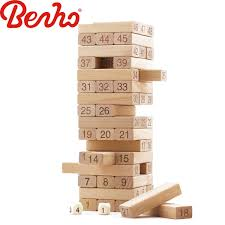 Wooden Bricks Game Wooden Tumbling Tower Traditional Family Board Game Vintage 29