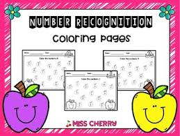The purpose of this worksheet is to test a young student on which numbers he or she can recognize on a page. Number Recognition Coloring Page Worksheets Teaching Resources Tpt