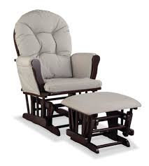 Rocking Chair Design, White Leather Glider Rocking Chair With Ottoman  Modern Designing Wooden Best Collection