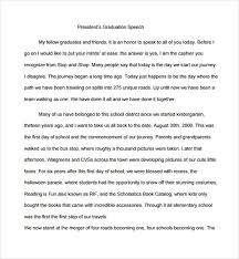 speech essay example speech sample image titled write a thank you sample graduation speech example template 10 documents in