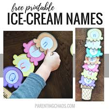 Printable Kids Ice Cream Scoops Name Printable For Kids Parenting Chaos