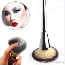 single big universal makeup brush blush face powder loose powder foundation silver color handle cosmetic large make up brush opp bag brushes makeup brands