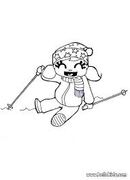 Winter Game Coloring Pages Hellokidscom