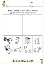 Wild Animals And Domestic Animals Worksheets Evs Worksheets