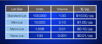 Forex Lot Size Chart What Is The Meaning Of Lot Size In Forex