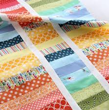 Easy Strip Quilt Patterns - Craftfoxes & easy Rainbow modern strip quilt Adamdwight.com