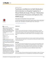 Pdf Facilitators And Barriers To Safe Medication
