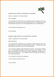 Cover Letter Email For Resume Tomyumtumweb Com