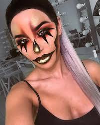 glam gold clown makeup idea