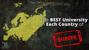 The Best University in Each Country of Europe