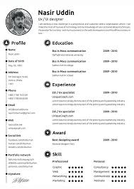 Curriculum Vitae Free Template Mesmerizing Sample Resume Design Eukutak