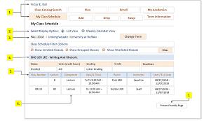 Understanding Your Class Schedule Help Center Ub