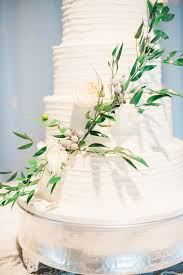 Buttercream Cake With Greenery And Silver Brunia