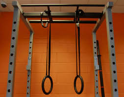 gymnastic rings pictured with the gymratz power rack