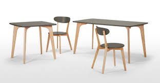 compact dining furniture. fjord a compact dining table in oak and grey furniture