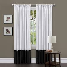 Off White Curtains Living Room Gorgeous Black And White Curtains For Elegant Atmosphere Ideas