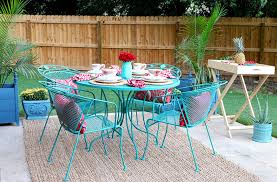 painting wrought iron furniture. Bestest Wrought Iron Furniture Colors How To Paint Patio With Chalk On Painting