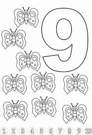 Small Picture Butterfly for Learn Number 9 Coloring Page Bulk Color