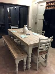 Narrow dining table with bench Thin Narrow Dining Table With Bench Farmhouse Dining Set Dining Tables Thin Dining Table With Bench Long Azcentral Narrow Dining Table With Bench Sakaminfo