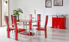 Colored Dining Room Sets Painting A Dining Room Table Red Stellasolahouston