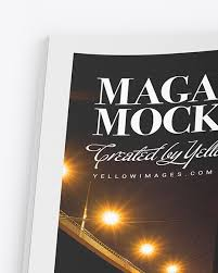 Free softcover book mockup set to showcase your book presentation in a photorealistic style. Matte Magazine Mockup In Stationery Mockups On Yellow Images Object Mockups