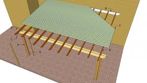Attached Pergola Plans   MyOutdoorPlans   Free Woodworking Plans    Attached pergola components