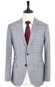 Suit Pattern Best GLEN PLAID LIGHT GREY SUIT Mayo Clothier